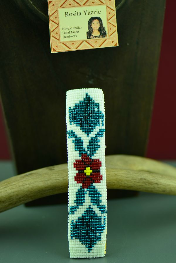 Navajo Beaded Rose Barrette