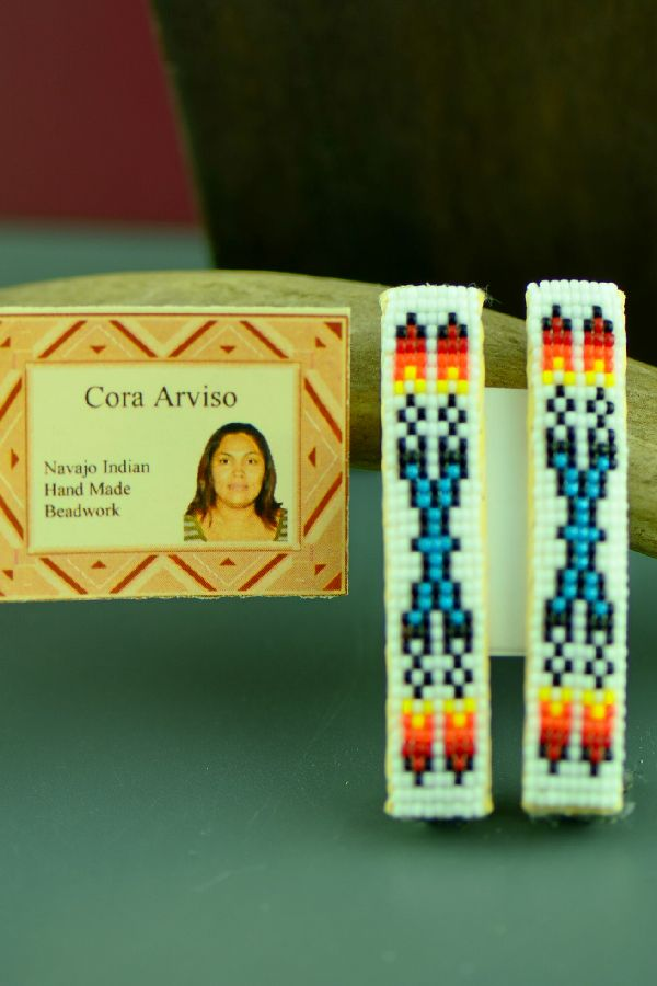 Cora Arviso Beaded Prayer Feather Barrettes