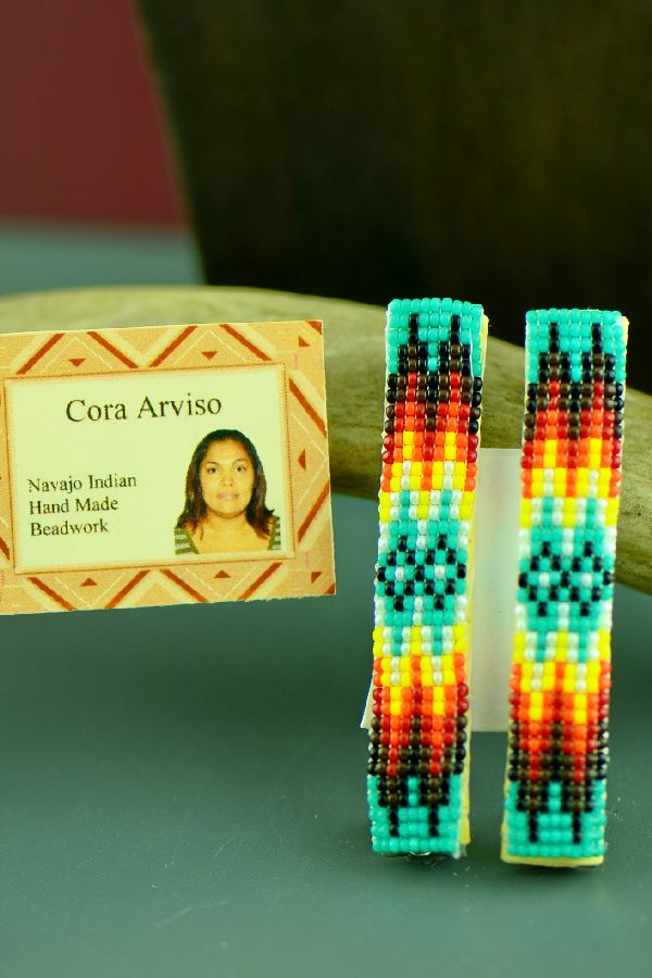 Cora Arviso Barrettes Beaded