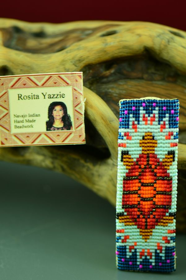 R Yazzie Beaded Turtle Barrette