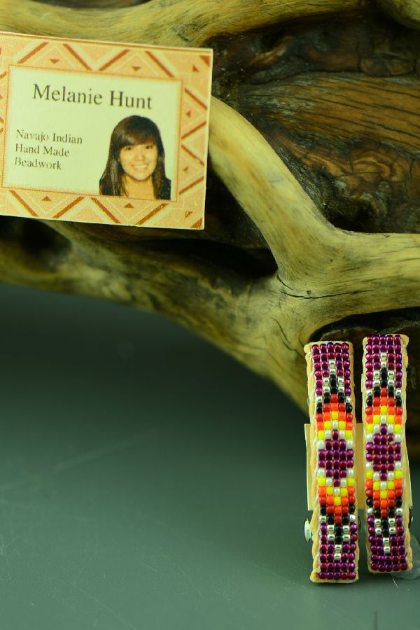 Melanie Hunt Navajo Beaded Barrettes
