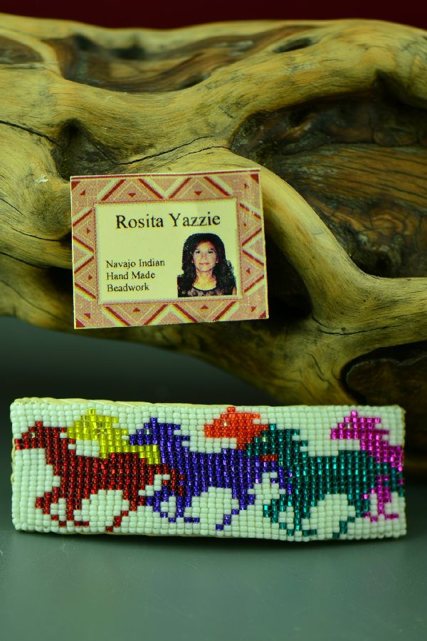 Native American Beaded Horse Barrette