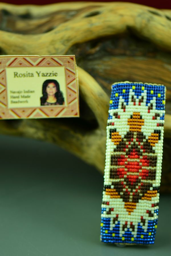 Turtle Beaded Native American Barrette