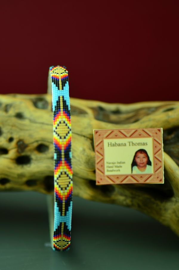 Colorful Beaded Navajo Head Band