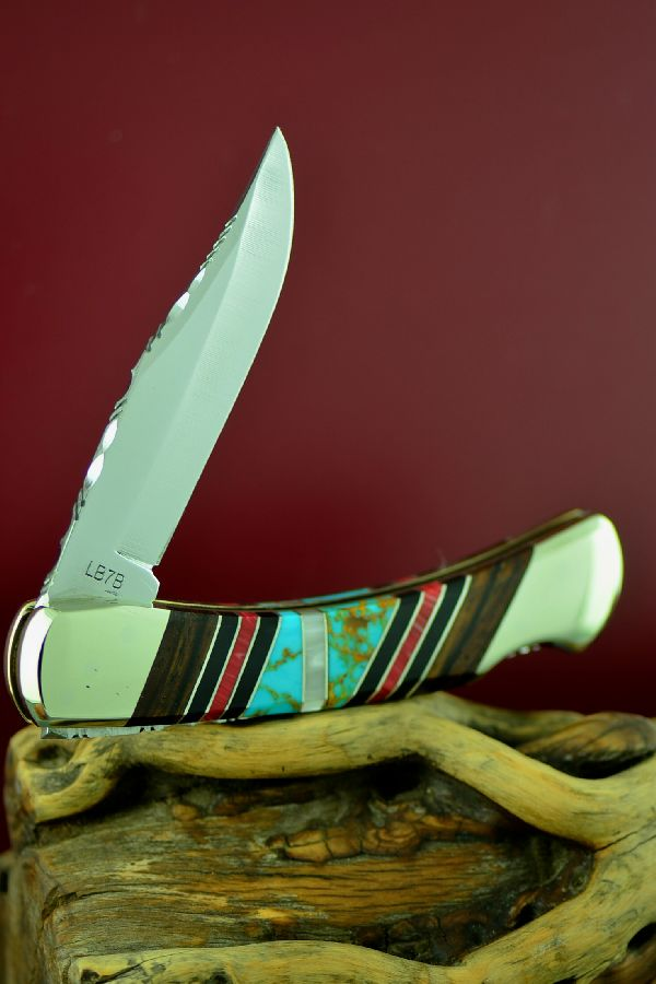 Bash Dani Custom Inlaid Schrade Uncle Henry Lock Back Knife