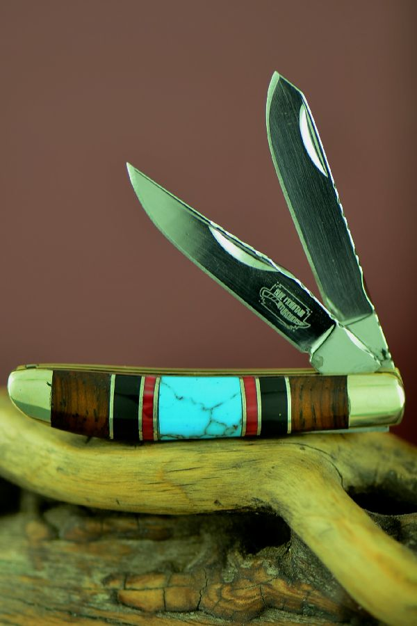 Turquoise 2 Blade Native American Knives