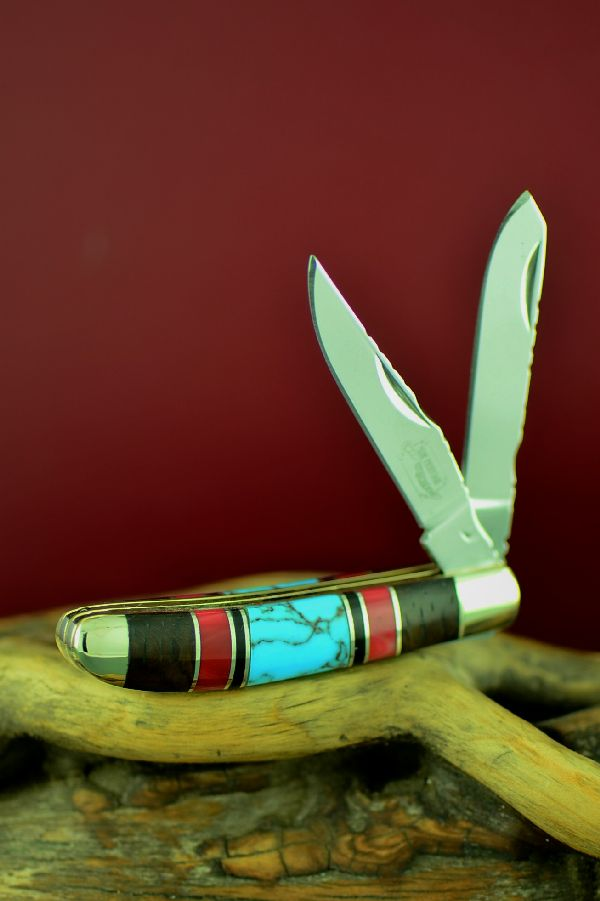 Mini Trapper Turquoise Knife