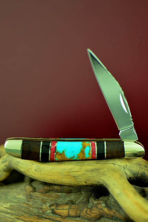 Bash Dani Pocket Knife with Turquoise