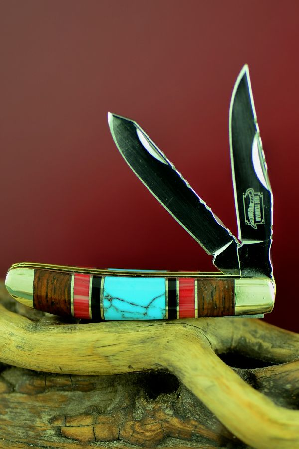 Two Blade Bash Dani Turquoise Knife