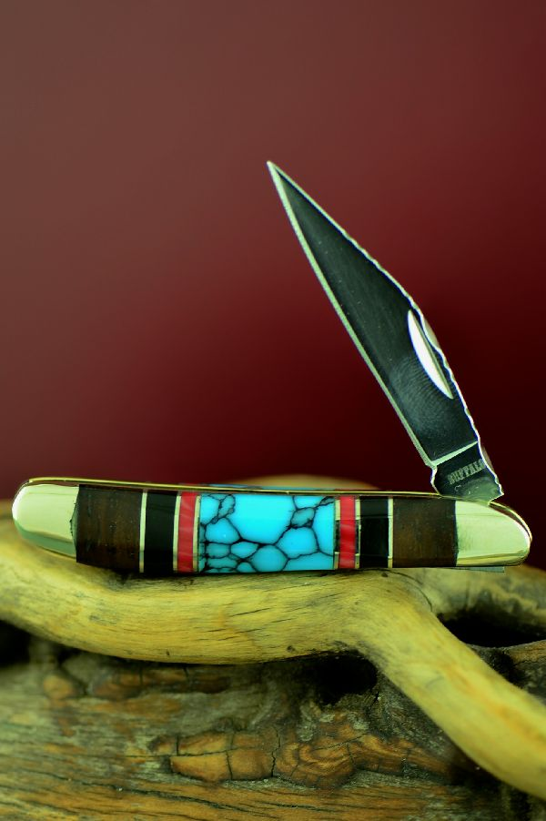 Single Blade Peanut Knife with Turquoise