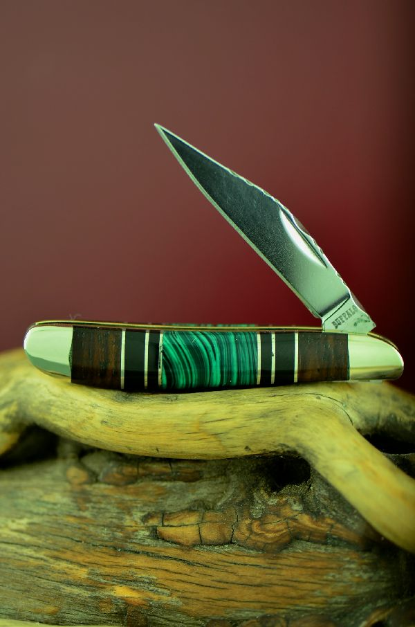 Bash Dani Cherokee Malachite Pocket Knives