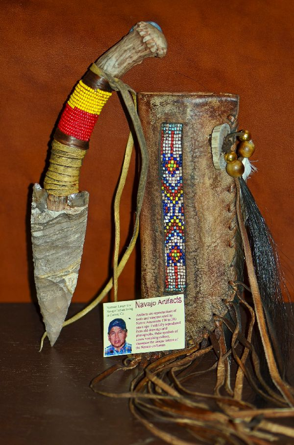 Norman Largo Navajo Flintknapped Knives