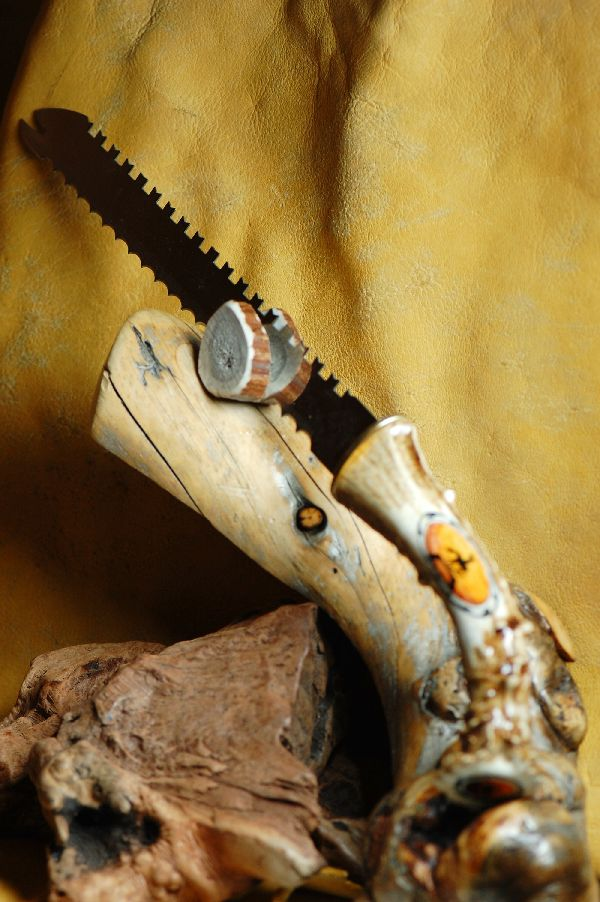 Hand Painted Deer Antler Knife