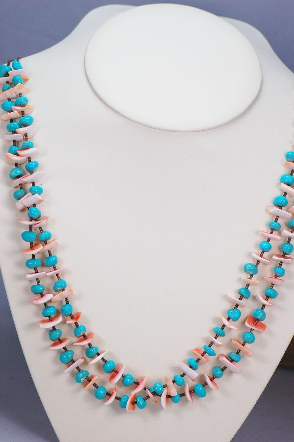 Santo Domingo Sleeping Beauty Turquoise Necklace