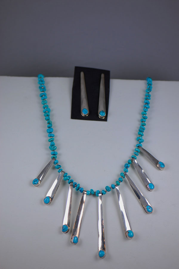 Sleeping Beauty Turquoise Necklace Sterling