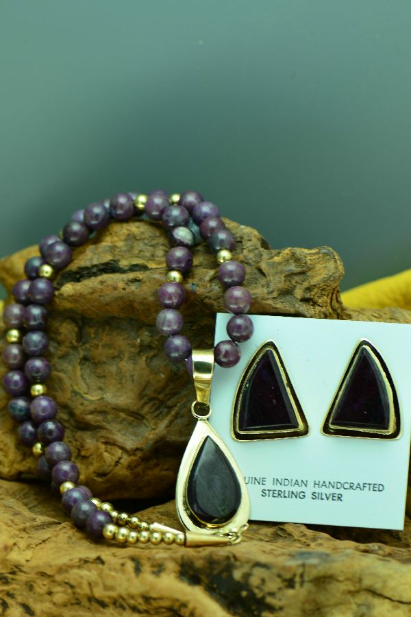High Grade Sugilite 14KT Gold Necklace
