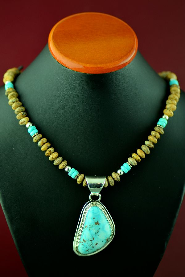 Lucy Valencia Kingman Turquoise Necklace