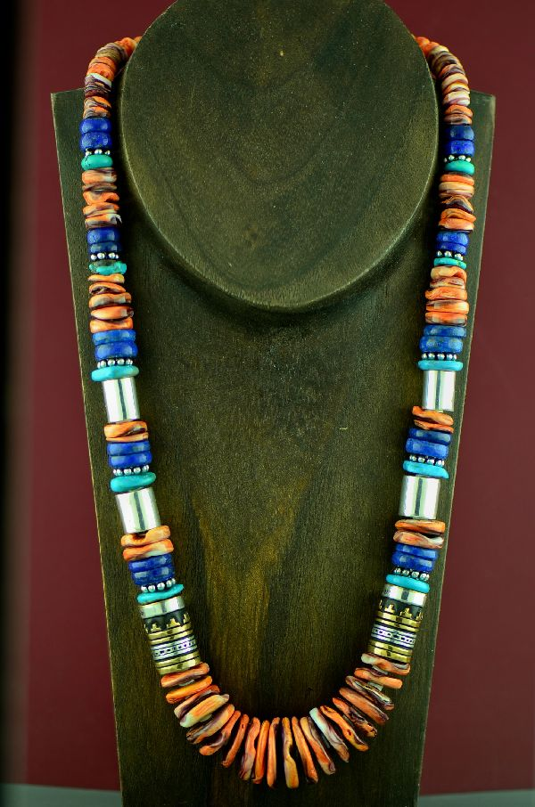 Rosita Singer Turquoise and Lapis Necklace