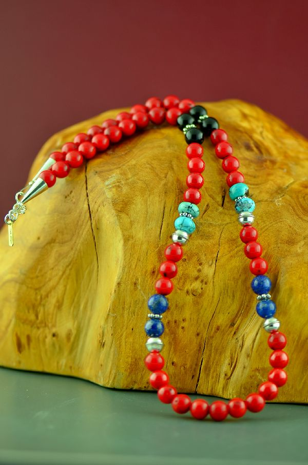 Native American Apple Coral Necklace