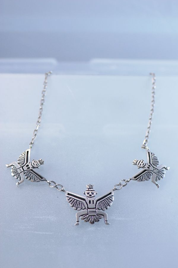 Navajo Sterling Silver Knife Wing Necklace