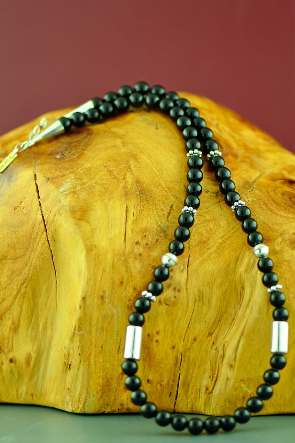 Black Onyx Native American Necklace