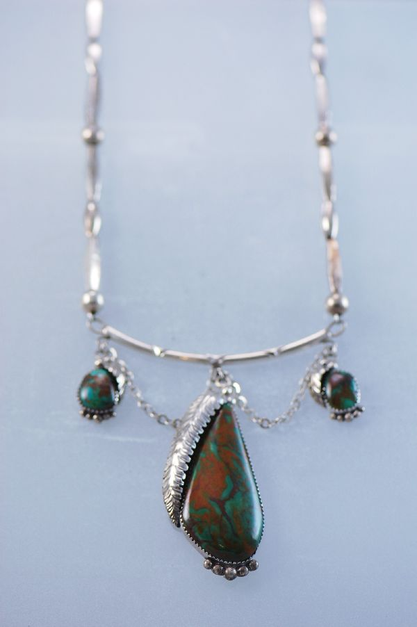 Navajo Silverleaf Turquoise Necklace