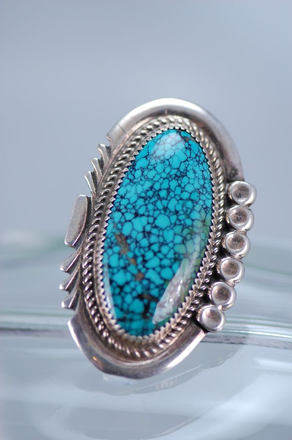 Navajo Exquisite China Mountain Turquoise Ring