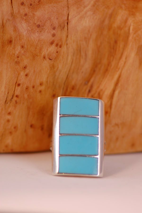 Navajo Turquoise Inlaid Ring