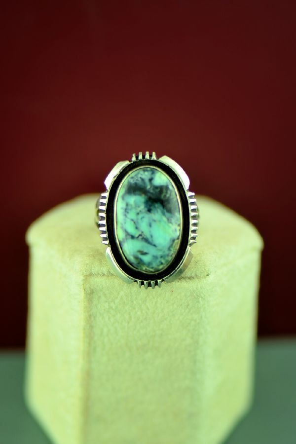 Navajo Sterling Silver Apache Turquoise Ring