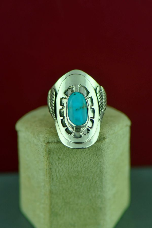 Native American Bisbee Turquoise Ladies Ring