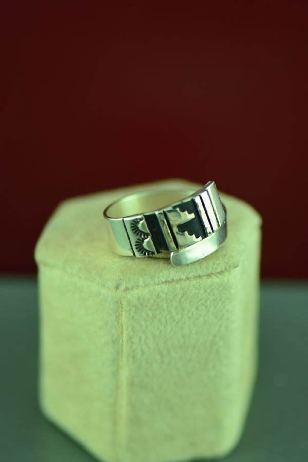 Sterling Silver Mountain Navajo Ring