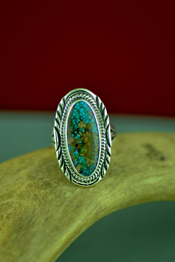 Size 7 Bisbee Turquoise Navajo Ring