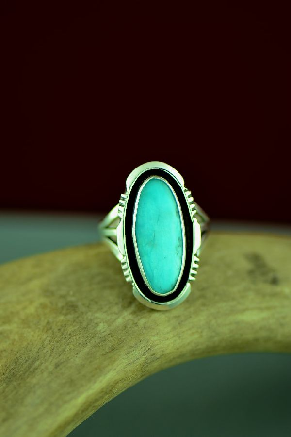 Blue Gem Turquoise American Indian Ring