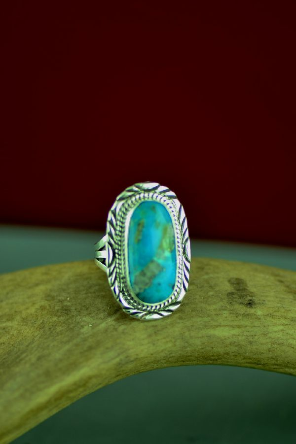 Ladies Navajo Turquoise Ring