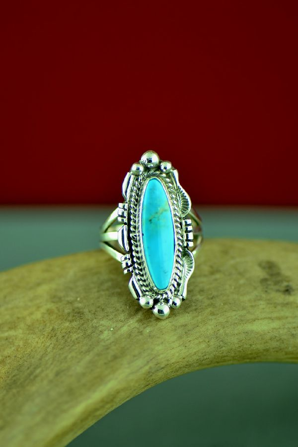 Blue Gem Turquoise Navajo Jewelry