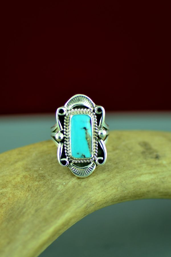 Bisbee American Indian Turquoise Ring