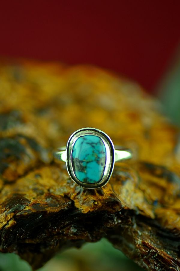 American Indian Bisbee Turquoise Rings