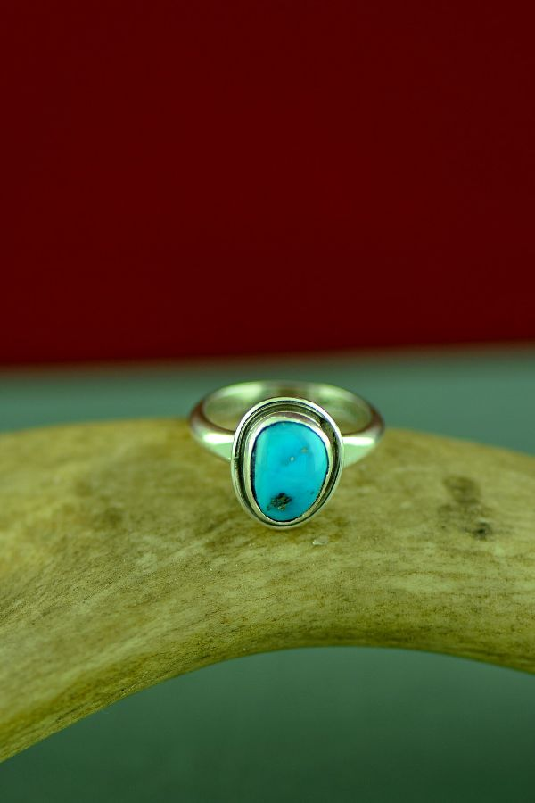 Will Denetdale Bisbee Turquoise Rings Size 6