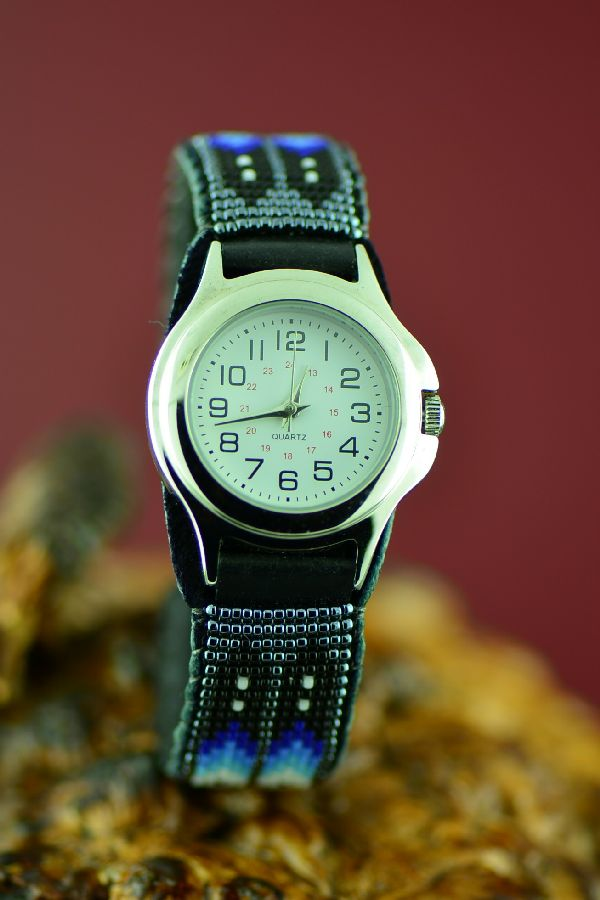 American Indian Beaded Watch Bracelet