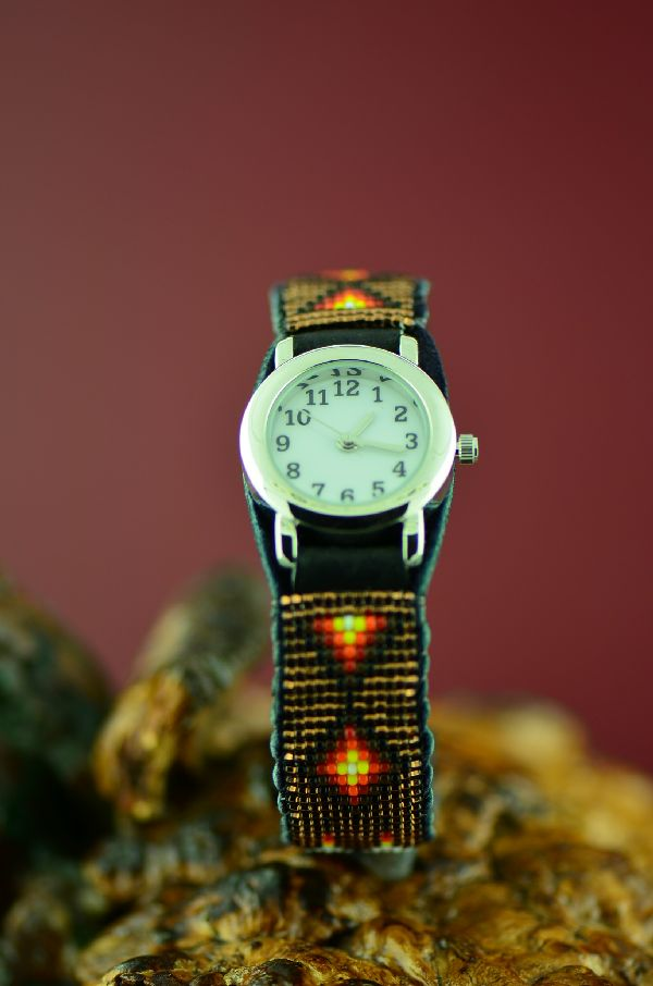 D. Yazzie Beaded Watch Bracelet