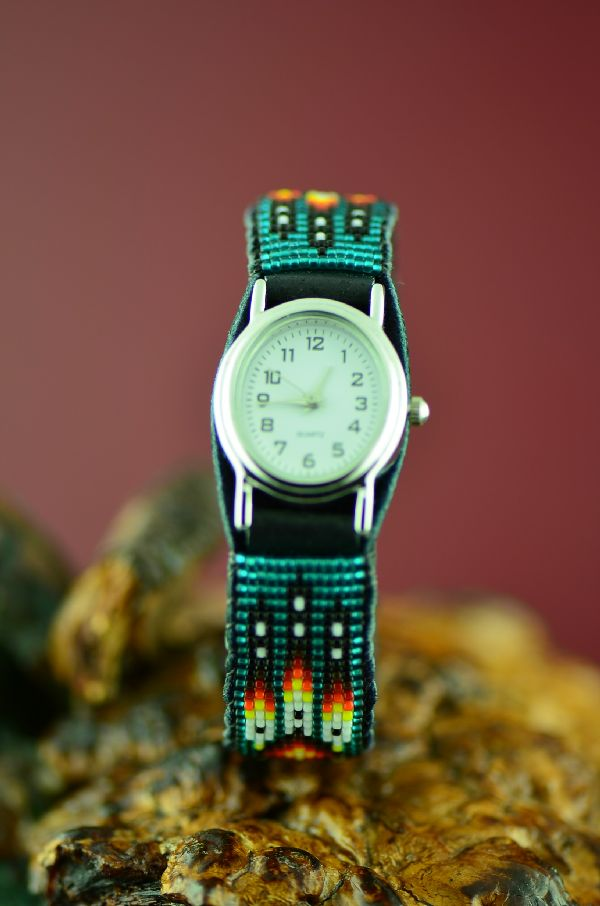 Daniel Yazzie Beaded Navajo Watch Bracelet