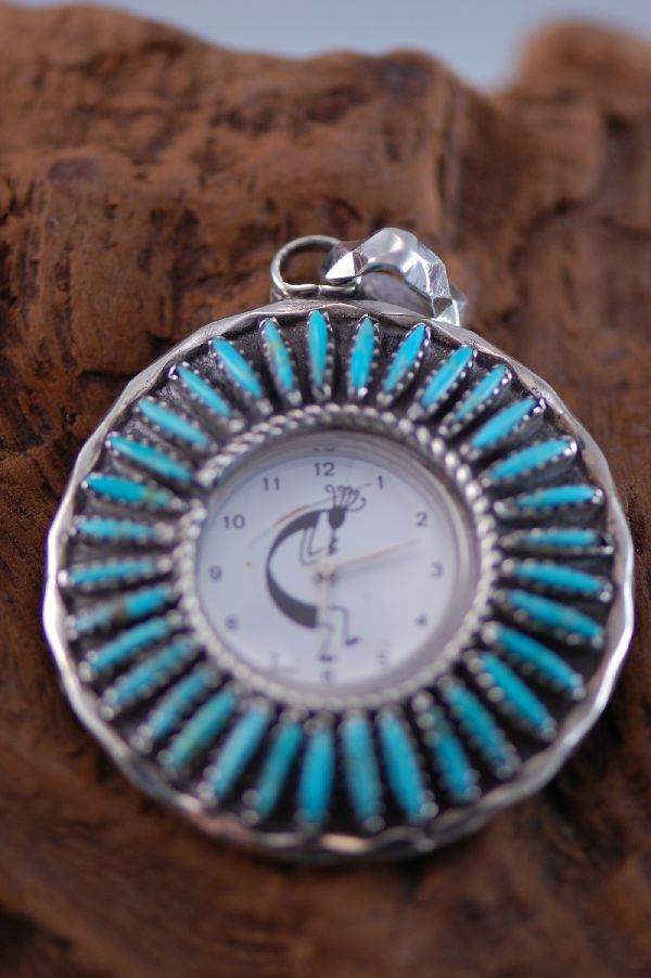 Needle Point Turquoise Watch Pendant