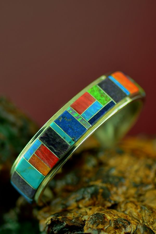 Quality Inlaid Native American Bracelet