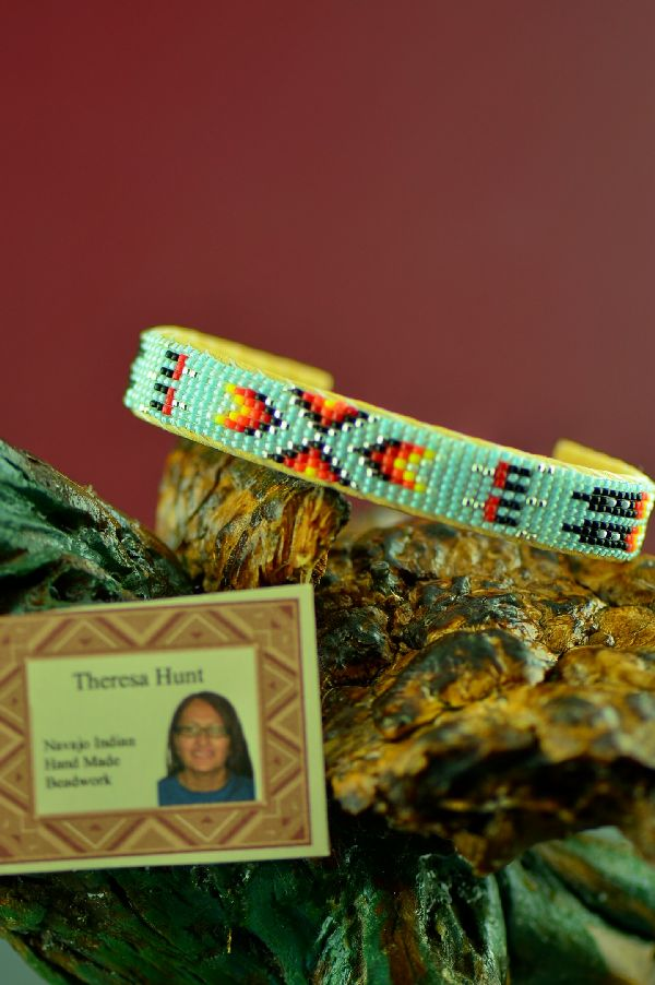 Navajo Beaded Bracelets with Prayer Feathers