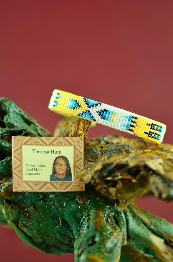 Native American Beaded Prayer Feather Bracelets
