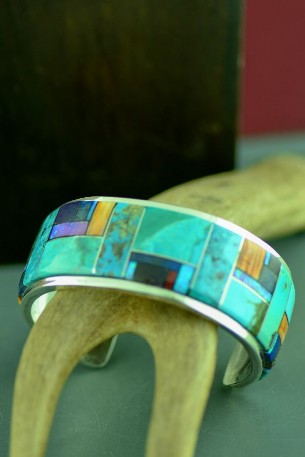 High Quality Turquoise Inlaid Navajo Bracelet