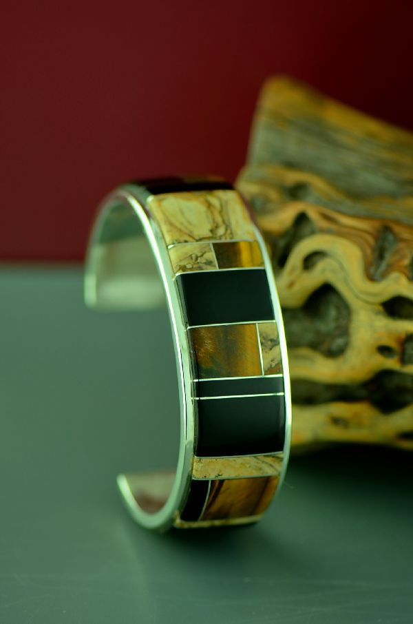 Large Native American Inlaid Bracelet