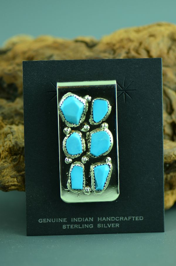 Carl Cheama Turquoise Money Clip