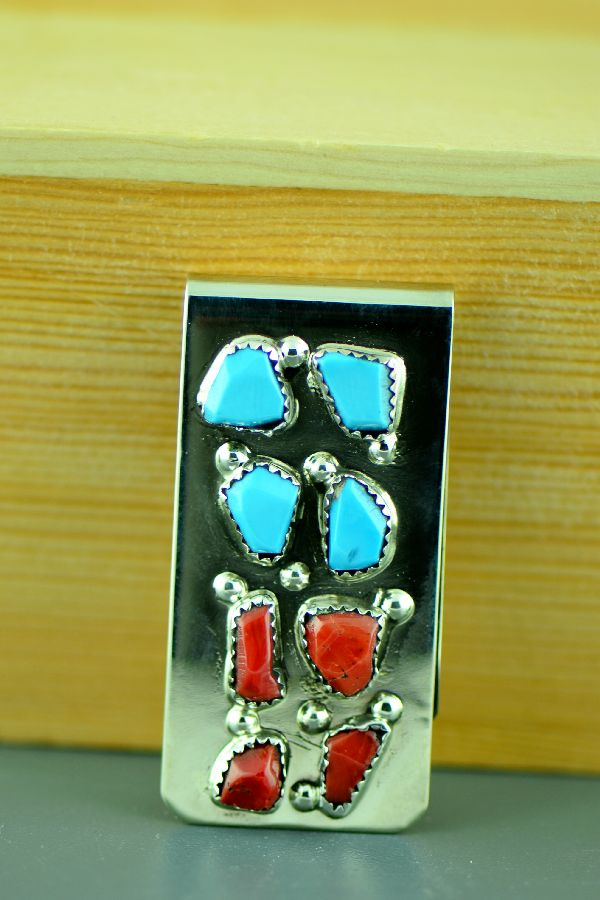 Curt Cheama Turquoise Money Clip