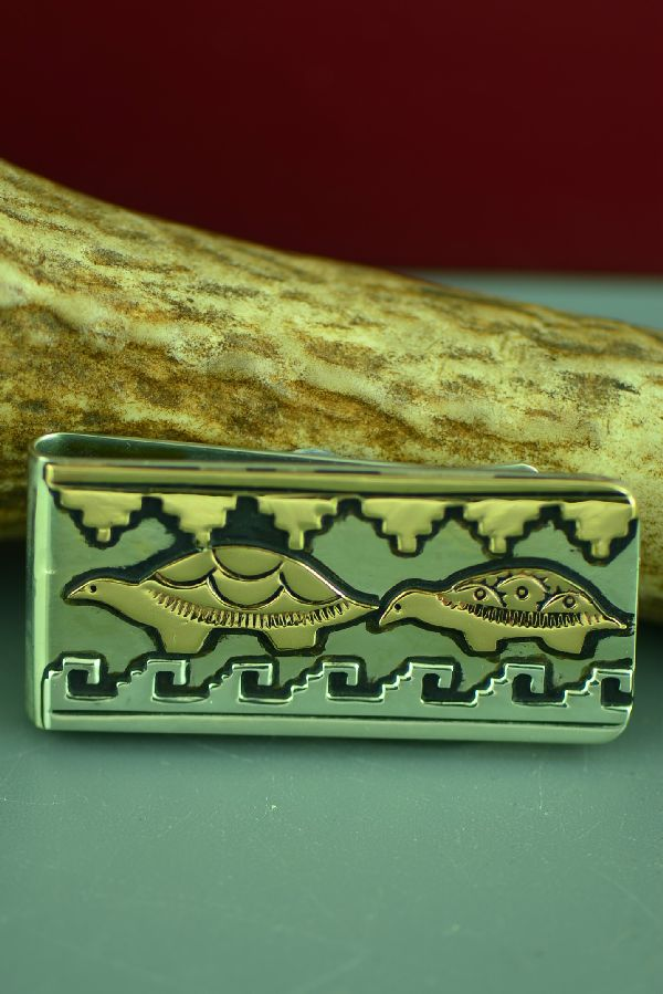 Turtle Native American Money Clip